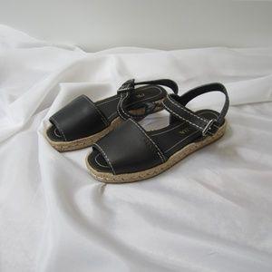 Prada 38 Leather Espadrilles Shoes Fall EUC